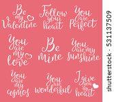 set of handwritten lettering...   Shutterstock .eps vector #531137509