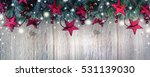 christmas ornament border with ... | Shutterstock . vector #531139030