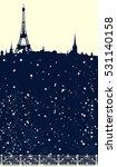 winter season paris scene  ...   Shutterstock .eps vector #531140158