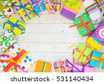 colored gift boxes with... | Shutterstock . vector #531140434