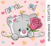 greeting card cute cartoon... | Shutterstock .eps vector #531147178