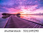 colorful sunset over ocean on... | Shutterstock . vector #531149290