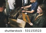 vinyl record store music... | Shutterstock . vector #531153523