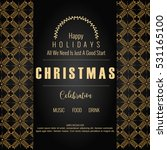 christmas party flyer  new year ...   Shutterstock .eps vector #531165100