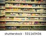 blurred image vitamin store... | Shutterstock . vector #531165436