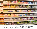 blurred image of vitamin store... | Shutterstock . vector #531165478