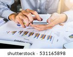 businessman working with smart... | Shutterstock . vector #531165898