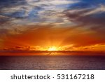 beautiful colorful sunset at... | Shutterstock . vector #531167218