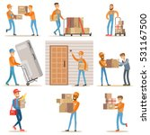 different delivery service... | Shutterstock .eps vector #531167500