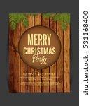 happy new year   merry... | Shutterstock .eps vector #531168400