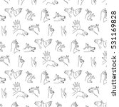 vector pattern finger hands | Shutterstock .eps vector #531169828