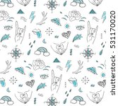 vector finger hands doodle...   Shutterstock .eps vector #531170020