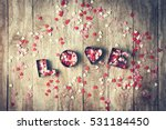 love concept with letters love... | Shutterstock . vector #531184450