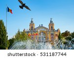 opera building with fountain on ... | Shutterstock . vector #531187744