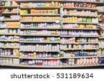 blurred image of vitamin store...   Shutterstock . vector #531189634