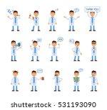 set of doctor characters... | Shutterstock .eps vector #531193090