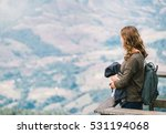 woman look out at viewpoint on... | Shutterstock . vector #531194068