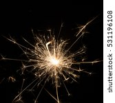 burning sparklers isolated on... | Shutterstock . vector #531196108