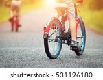 children on a bicycle at... | Shutterstock . vector #531196180