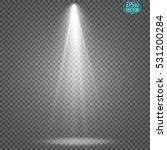vector spotlights. scene. light ... | Shutterstock .eps vector #531200284