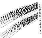 black grunge tire track... | Shutterstock .eps vector #531200590