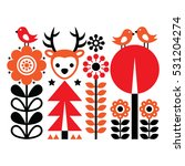 finnish inspired folk art... | Shutterstock .eps vector #531204274