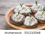 baked mushrooms stuffed with... | Shutterstock . vector #531210568
