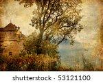 Chillion castle - artistic vintage picture - stock photo