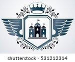 vintage vector emblem made in... | Shutterstock .eps vector #531212314
