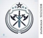 vector heraldic coat of arms... | Shutterstock .eps vector #531212338