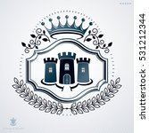vector vintage heraldic coat of ... | Shutterstock .eps vector #531212344