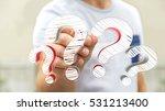 businessman on blurred... | Shutterstock . vector #531213400