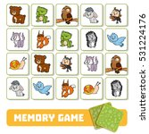 memory game for preschool... | Shutterstock .eps vector #531224176