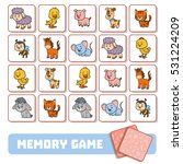 memory game for preschool... | Shutterstock .eps vector #531224209