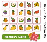 memory game for preschool... | Shutterstock .eps vector #531224458