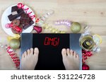 digital scales with woman feet... | Shutterstock . vector #531224728