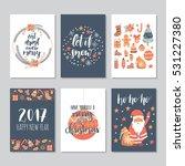 vector set of hand drawn of... | Shutterstock .eps vector #531227380