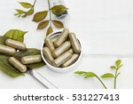 Herbal Medicine In Capsules On...