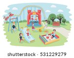 a vector cartoon cute funny... | Shutterstock .eps vector #531229279