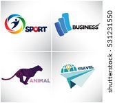 set of logos for business and... | Shutterstock .eps vector #531231550