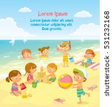 children play and swim at the...   Shutterstock .eps vector #531232168