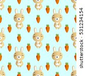 seamless pattern with smiling... | Shutterstock .eps vector #531234154