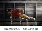 sport. handsome man doing push... | Shutterstock . vector #531234550