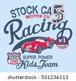 cute stock car racing team ... | Shutterstock .eps vector #531236113