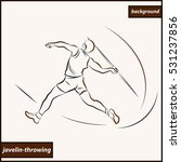 illustration shows a athlete... | Shutterstock . vector #531237856