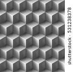 seamless volumetric glossy grey ... | Shutterstock .eps vector #531238378
