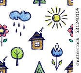 seamless vector pattern with... | Shutterstock .eps vector #531240109