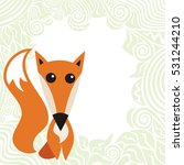 cute cartoon fox. vector... | Shutterstock .eps vector #531244210