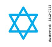 star of david icon on white... | Shutterstock .eps vector #531247333