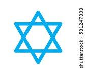 star of david icon on white... | Shutterstock .eps vector #531247333
